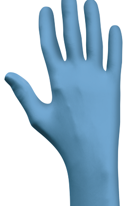 Gloves, Disposable, Showa Eco Best Technology® Blue Nitrile Powder-Free 4 Mil